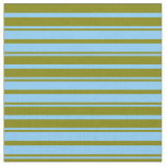 [ Thumbnail: Light Sky Blue and Green Lined/Striped Pattern Fabric ]