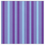 [ Thumbnail: Light Sky Blue and Indigo Colored Pattern Fabric ]