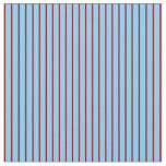 [ Thumbnail: Light Sky Blue and Maroon Lined Pattern Fabric ]