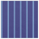 [ Thumbnail: Light Sky Blue and Midnight Blue Colored Stripes Fabric ]