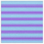 [ Thumbnail: Light Sky Blue and Purple Pattern Fabric ]