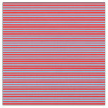 [ Thumbnail: Light Sky Blue and Red Colored Pattern Fabric ]