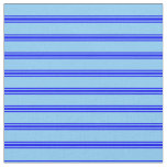 [ Thumbnail: Light Sky Blue & Blue Colored Pattern of Stripes Fabric ]