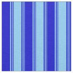 [ Thumbnail: Light Sky Blue & Blue Pattern Fabric ]