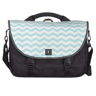 Light Sky Blue, Chevron Stripes Commuter Bags