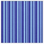[ Thumbnail: Light Sky Blue & Dark Blue Colored Lines Fabric ]