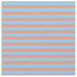 [ Thumbnail: Light Sky Blue & Dark Salmon Stripes Fabric ]