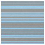 [ Thumbnail: Light Sky Blue & Gray Lines Fabric ]
