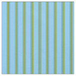 [ Thumbnail: Light Sky Blue & Green Colored Pattern Fabric ]