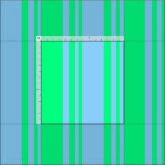 [ Thumbnail: Light Sky Blue & Green Colored Stripes Fabric ]