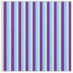 [ Thumbnail: Light Sky Blue, Indigo & Beige Colored Pattern Fabric ]