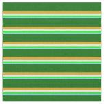 [ Thumbnail: Light Sky Blue, Lime, White, Goldenrod, Dark Green Fabric ]