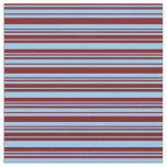 [ Thumbnail: Light Sky Blue & Maroon Colored Lines Fabric ]