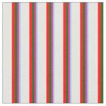 [ Thumbnail: Light Sky Blue, Pink, Dark Green, Red & Mint Cream Fabric ]