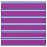 [ Thumbnail: Light Sky Blue & Purple Colored Pattern Fabric ]