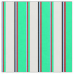 [ Thumbnail: Light Sky Blue, Red, Green, White & Black Colored Fabric ]