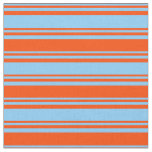 [ Thumbnail: Light Sky Blue & Red Lines Pattern Fabric ]