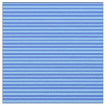 [ Thumbnail: Light Sky Blue & Royal Blue Colored Lined Pattern Fabric ]