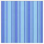 [ Thumbnail: Light Sky Blue & Royal Blue Colored Lines Fabric ]