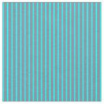 [ Thumbnail: Light Slate Gray and Cyan Striped/Lined Pattern Fabric ]