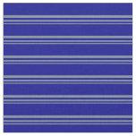 [ Thumbnail: Light Slate Gray and Dark Blue Lined Pattern Fabric ]