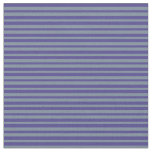 [ Thumbnail: Light Slate Gray and Dark Slate Blue Stripes Fabric ]