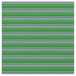 [ Thumbnail: Light Slate Gray and Green Colored Pattern Fabric ]