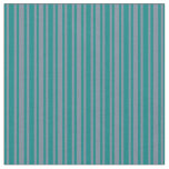[ Thumbnail: Light Slate Gray and Teal Stripes Pattern Fabric ]