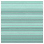[ Thumbnail: Light Slate Gray & Aquamarine Pattern Fabric ]