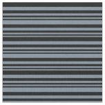 [ Thumbnail: Light Slate Gray & Black Colored Pattern Fabric ]