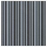 [ Thumbnail: Light Slate Gray & Black Colored Stripes Fabric ]