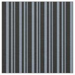 [ Thumbnail: Light Slate Gray & Black Striped/Lined Pattern Fabric ]
