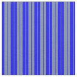 [ Thumbnail: Light Slate Gray & Blue Lines/Stripes Pattern Fabric ]