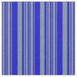 [ Thumbnail: Light Slate Gray & Blue Stripes/Lines Pattern Fabric ]