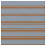 [ Thumbnail: Light Slate Gray & Brown Stripes/Lines Pattern Fabric ]