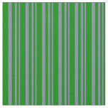 [ Thumbnail: Light Slate Gray & Green Lines Pattern Fabric ]