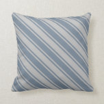 [ Thumbnail: Light Slate Gray & Grey Lines/Stripes Pattern Throw Pillow ]