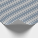 [ Thumbnail: Light Slate Gray & Grey Lines/Stripes Pattern Wrapping Paper ]