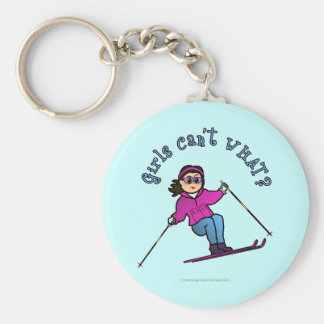 Light Snow Skier Keychain