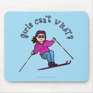 Light Snow Skier Mouse Pad