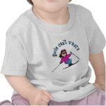 Light Snow Skier T Shirt