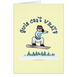 Light Snowboarder Greeting Card