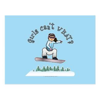 Light Snowboarder Postcard