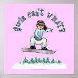 Light Snowboarder Poster