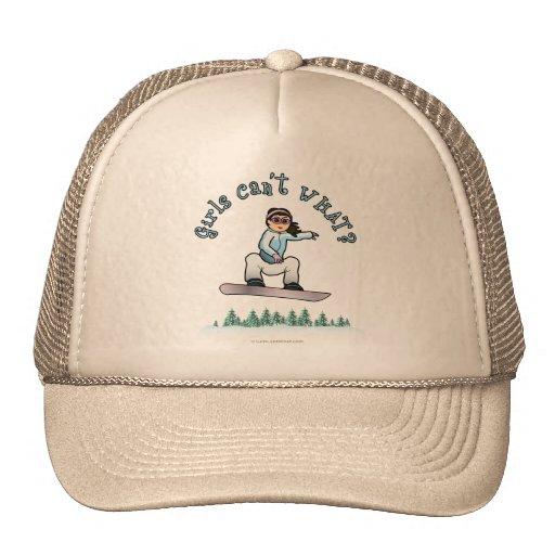 Light Snowboarder Trucker Hat