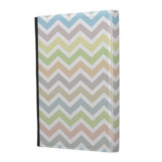 Light Soft Colors Chevron Pattern iPad Folio Case