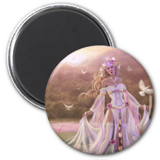 Light Sorceress 2 Inch Round Magnet