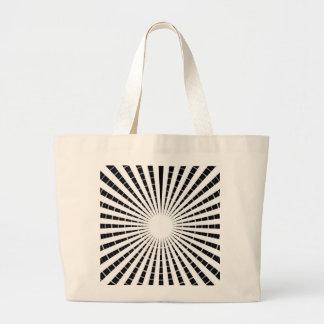 LIGHT Source - Black n White Sparkle Wheel Tote Bag