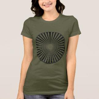LIGHT Source - Black n White Sparkle Wheel T-Shirt