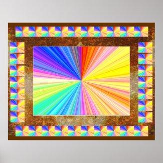 Light Sparkle Spectrum : Happy Holidays Print